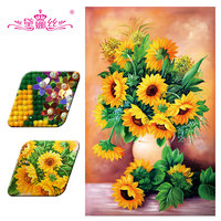 DaiNaSi Diamond Embroidery Diamond Painting 3D DIY Special Shaped Diamond Mosaic Embroidery Paste Cross Stitch Sunflower