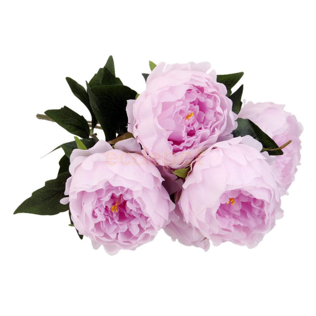 Online get cheap lilac flowers aliexpress alibaba group artificial 5 heads peony silk flower bouquet home wedding garden decor lilacchina dhlflorist Images