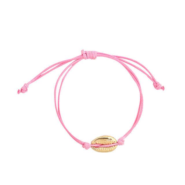 1pc Cowrie shell Bracelet femme Adjustable boho Macrame friendship Real Seashell Bracelet Mothers Day Jewelry Gift 8451-8458