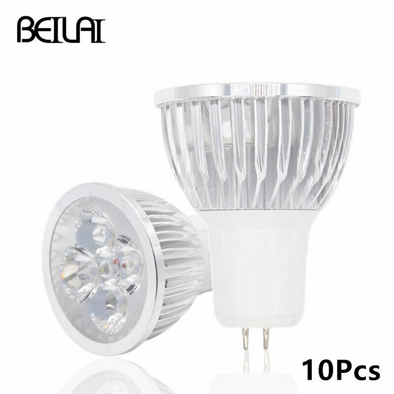 BEILAI 10pcs GU5.3 Dimmable LED Lamp 220V 110V GU 5.3 Lampada LED ...