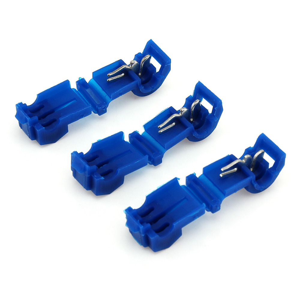 100Pcs Insulated T Tap Electrical Cable Connectors Quick Splice Wire ...