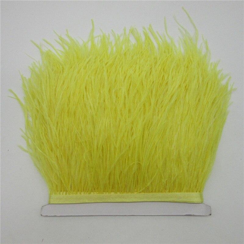 10 yardas de 10-15 CM plumas de avestruz adornos para la falda vestido  amarillo plumas de avestruz cinta DIY plumas para artesanía plumaje ropa ef15a9c71cbe