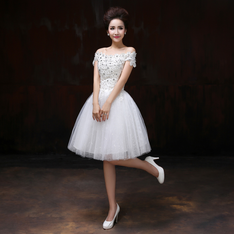 Buy lace boat neck wedding party dress for How to dress for an evening wedding