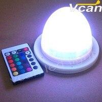 Бесплатная доставка 10 шт. Cordless RGB Дистанционное управление Батарея LED Освещение