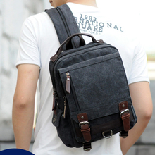 2016 New Fashion Style Men Backpack School Bags Travel Backpacks For Teenager High Quality Canvas Fabrics Boy