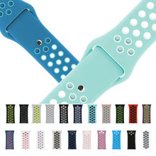 Sport Soft Rubber Series 4 3 2 1 iwo 6 Strap watchband Watch Bands for Apple Watch Sport Silicone loop Band for iwatch 38mm 42mm(China)