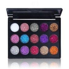 15 Color Eye Shadow Palette Masonry Shinning 3D Charming Glitter Eyeshadow Makeup Palette Make Up palette Cosmetics Beauty Tool