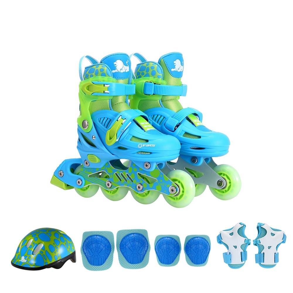 Детский скейтборд Защитное снаряжение набор фитнес колено поддержка Встроенные роликовые коньки со шлемом налокотники Наколенники Защита запястья