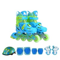 Kids Skateboard Protective Gear Set Fitness Knee Support Inline Roller Skates with Helmet Elbow Pads Knee Support Wrist Guard