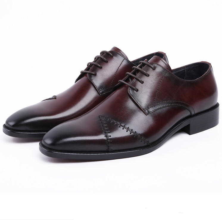 Breathable black / brown tan wedding shoes mens business shoes genuine leather dress shoes formal oxfords shoes luxury black brown brown tan white oxfords shoes mens wedding shoes genuine leather business shoes mens dress shoes