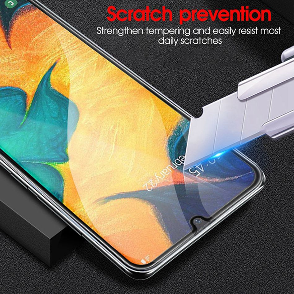 Image 2 - 9D Tempered Glass for Samsung Galaxy A50 A70 Screen Protector Glass for Samsung M20 A20 A20e A60 A80 M10 A30 A40 A50 A10 Glass-in Phone Screen Protectors from Cellphones & Telecommunications on