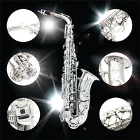 SLADE High Quality Saxophones Sax Eb Brass Alto Saxophone Nozzle With Gloves Cleaning Cloth Brushes Box