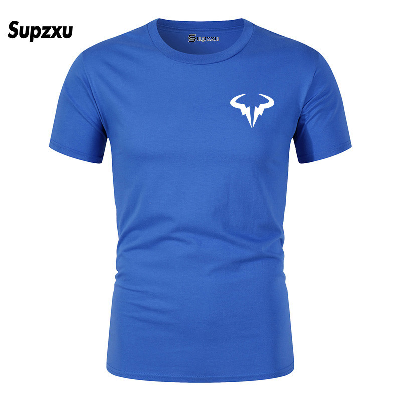 2019 Summer New Fashion Rafael Nadal Men's Black T-Shirt Size XS-2XL High Quality Men's Natto Bull T-Shirt Top T-Shirt Large Siz