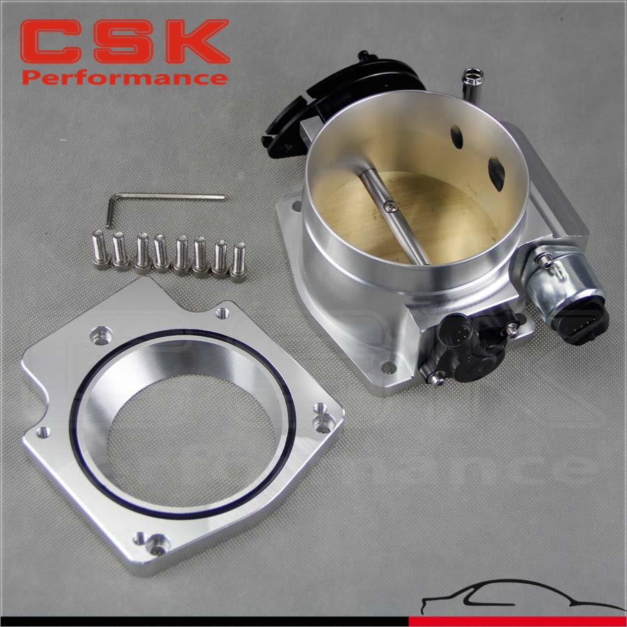 Ls2 Engine Plate: 102mm Throttle Body W/ TPS + Manifold Adapter Plate For