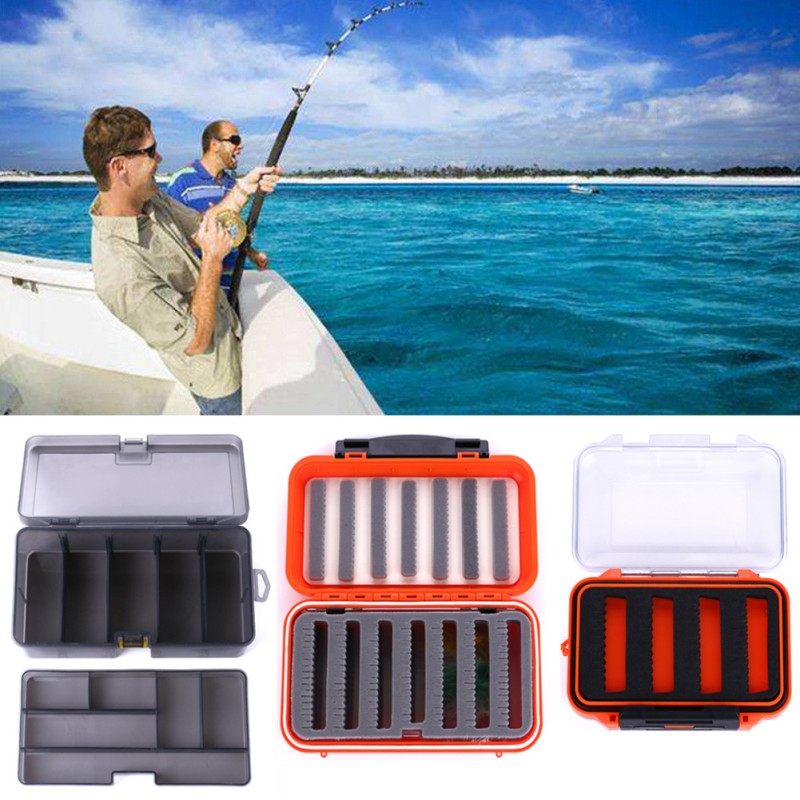 3 Style Insect Road Yafei Fishing Bait Box Fly Fishing Bait Lure Hook Box Double Side Waterproof Plastic Foam Storage Case Box(China)