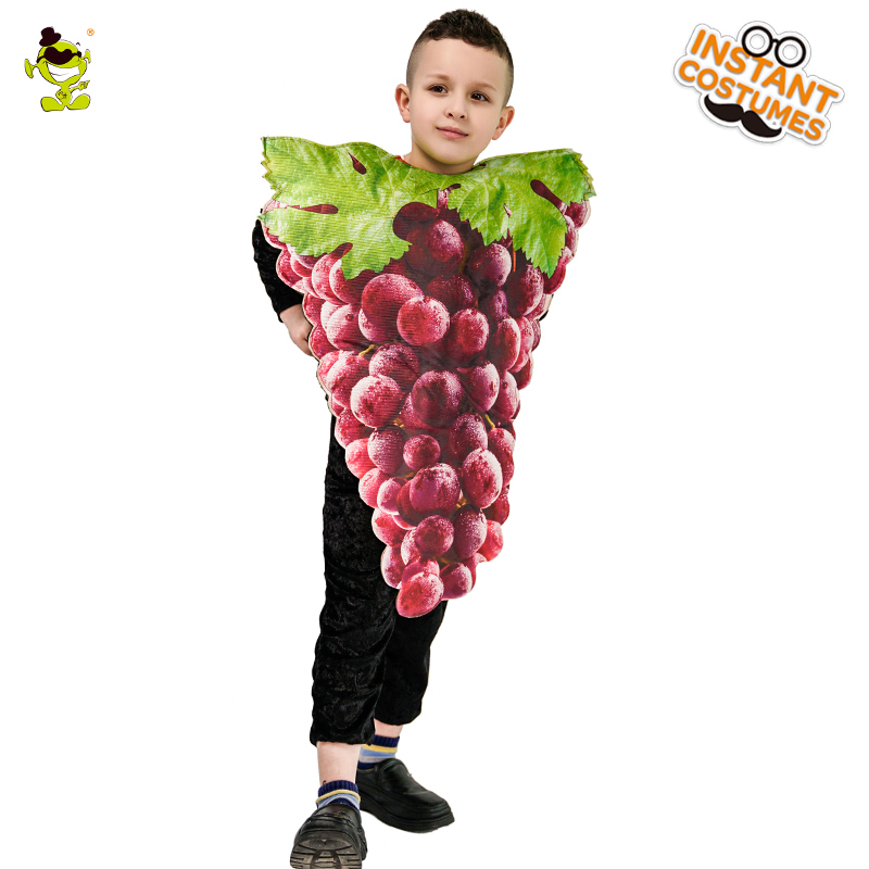 Unisex New Design Bunch of Grapes Costume Lovely Kid's Summer grape Jumpsuit Cosplay Outfits Clothings For Carnival Party