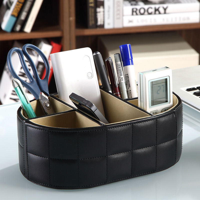 PU Leather Organizer Storage Box Remote Control Phone Holder Cosmetic Organizer Makeup Case Storage Case Shelf organizer