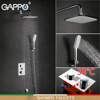 GAPPO shower faucet bathroom faucet LED shower mixer basin sink faucet bath tub brass rainfall Bathtub taps shower system