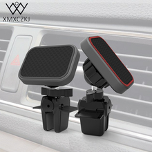ФОТО xmxczkj magnetic holder universal car phone holder square magnet air vent mount stand 360 rotation for  iphone samsung gps stand