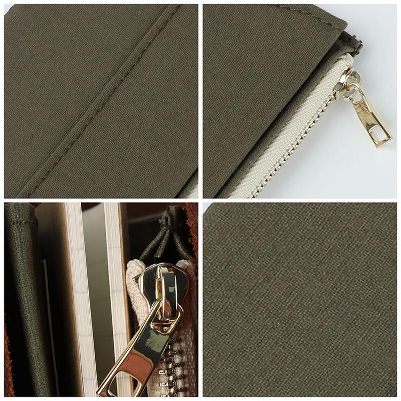 DinThenon Retro Bag de stocare pentru Midori Traveller's Notebook - Blocnotesuri și registre - Fotografie 5