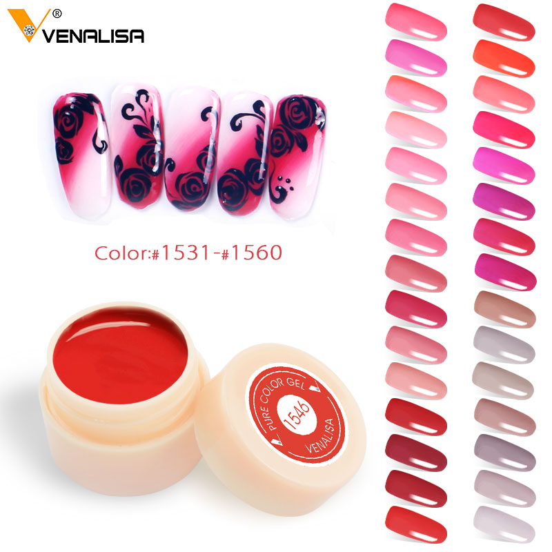 #50638 Venalisa 5ml Painting Gel Canni Supply Soak Off UV LED Nail Lacquer 180 Colors Pu ...