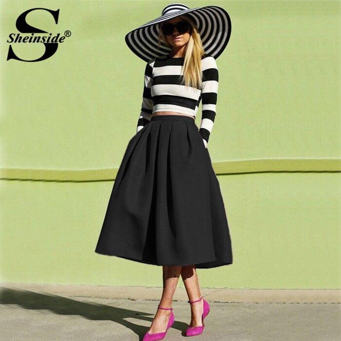 Aliexpress.com : Buy Sheinside A Line Flare Pleated Fashion Street ...
