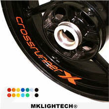 k-sharp 8 X CUSTOM INNER RIM DECALS WHEEL Reflective STICKERS STRIPES FIT HONDA crossrunner