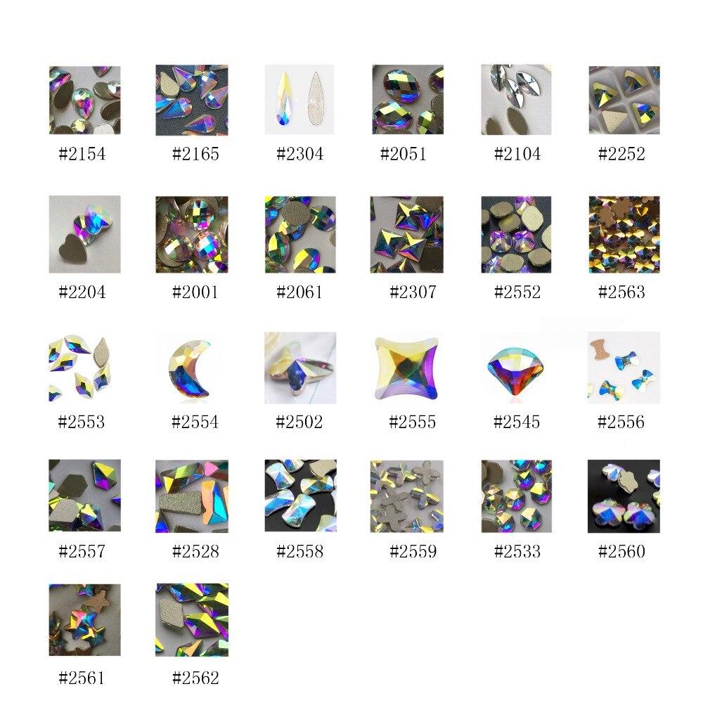 YANRUO Mix Crystal AB Glitter Crystal 3d DIY Nail Art Flat Back - Arte de uñas - foto 2