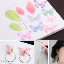 DIY earrings earrings accessories thin wing art leaves butterfly pendant earrings accessories romantic temperament