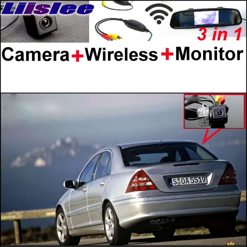 Liislee Special Camera + Wireless Receiver + Mirror Monitor Easy DIY Parking System For Mercedes Benz C Class MB W203 2001~2007 liislee for mercedes benz cl mb w216 cls w218 special camera wireless receiver mirror screen 3in1 backup parking system