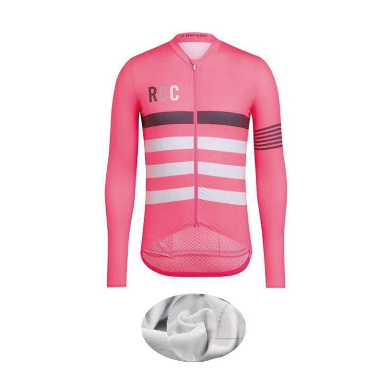 Cycling Jersey RCC Jacket Clothing Bike-Wear Long-Sleeve Fleece Maillot Winter Warm Pro