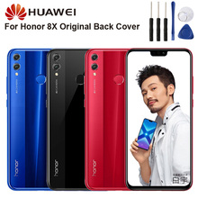 Original Glass Battery Rear Case For Huawei Honor 8X Back Cover Phone Backshell Cases