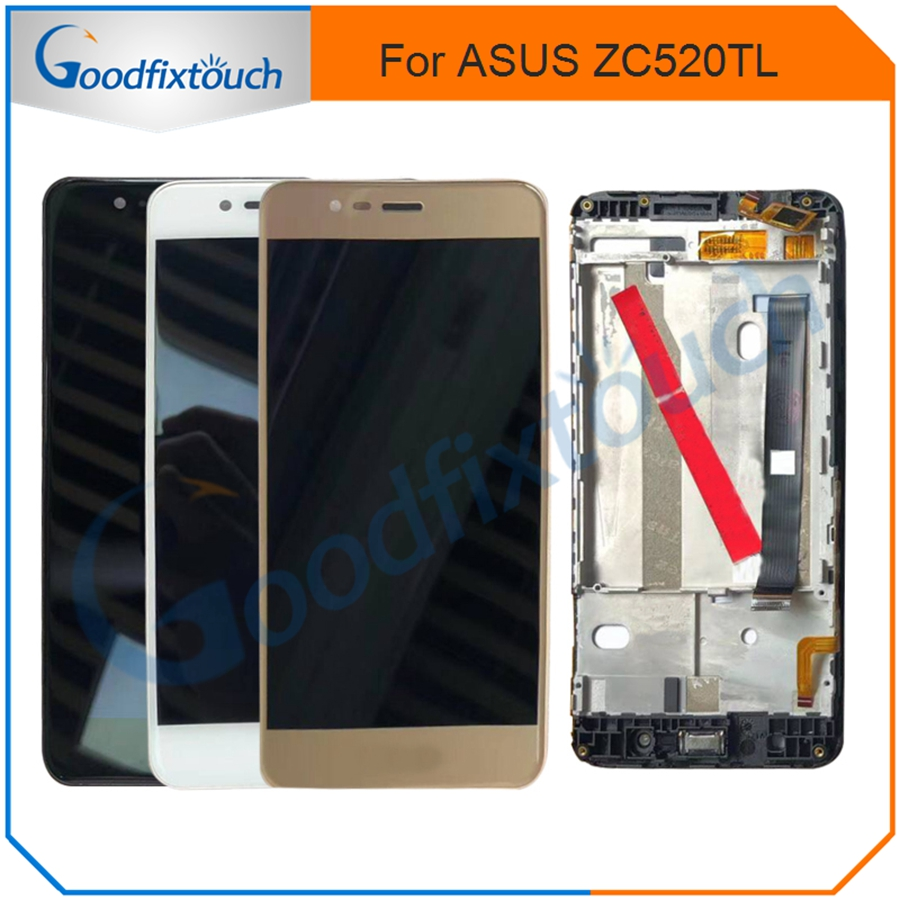 For <font><b>Asus</b></font> <font><b>Zenfone</b></font> <font><b>3</b></font> <font><b>Max</b></font> <font><b>ZC520TL</b></font> LCD Display Touch <font><b>Screen</b></font> Digitizer Assembly With Frame <font><b>Replacement</b></font> 5.2