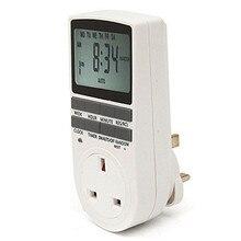 цена на Electronic Timer Socket EU Plug Timer Programmable 7 Day 12/24 Hour New Energy Saving Digital Timer Household Appliances 230V 50