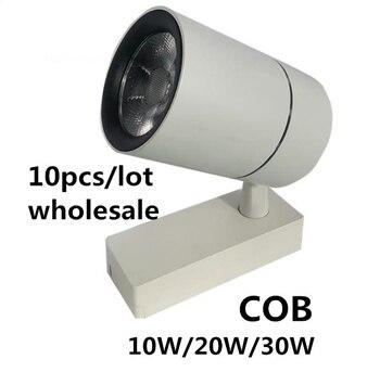 10PCS/LOT COB LED track light Spotlight Mounted 3 lines Ceiling rail track lamp Window clothing store Decorative 10W/20W/30W
