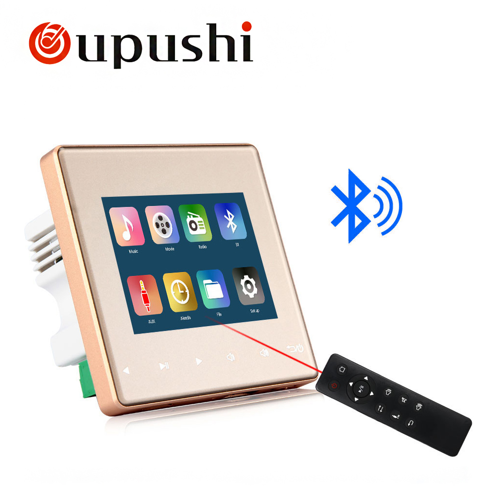 Home Audio system,music system,Ceiling Speaker system,Bluetooth digital stereo amplifier, in wall amplifier with touch key - 2