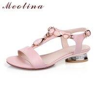 Plus Size 40 41 Luxury Lady S Sandals Summer Open Toe T Strap Bohemian Beach Low