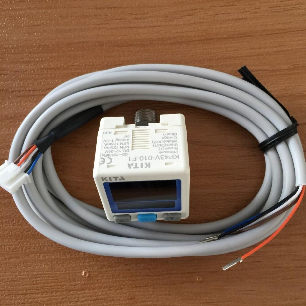 KITA new digital pressure switches KP43V-010-F1 -0.1~0MPa DC12-24V NPN OUTPUT new and original kp43v 010 f1 kita pressure switch negative pressure sensor