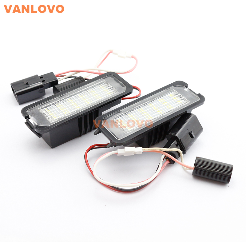 18-SMD LED License Plate Light for VW Golf 4 5 6 7 / Eos Lupo Passat Sedan B6 B7 CC Phaeton Polo /New Beetle Scirocco