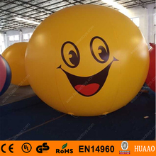 Free shipping 2m/6.5ft PVC inflatable smiling face balloon