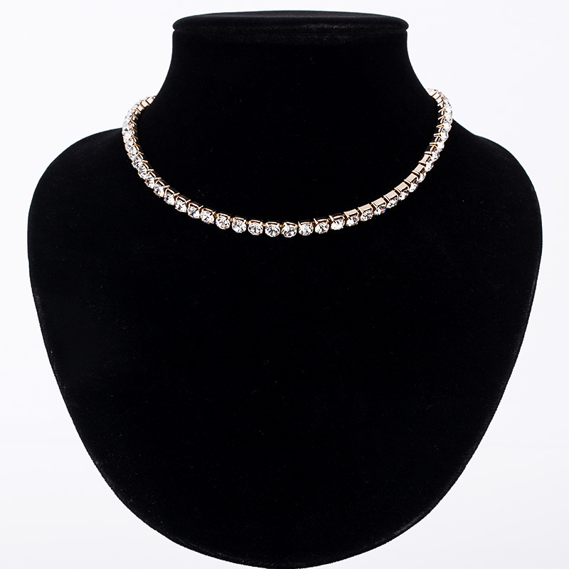 Hot Sale New Women Crystal Rhinestone Collar Necklace