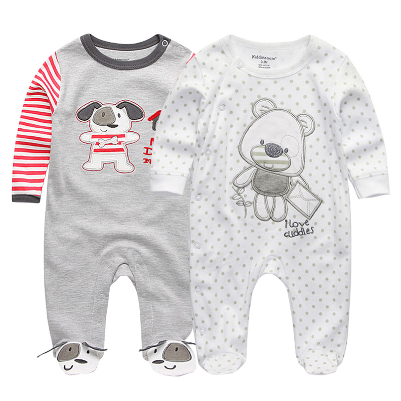 Baby's 2Pcs Clothings Sets Boy&Girl Footies Pajamas Original Summer Newborn 3 6 9 12 Months Cotton Sleepwear Clothing Rompers
