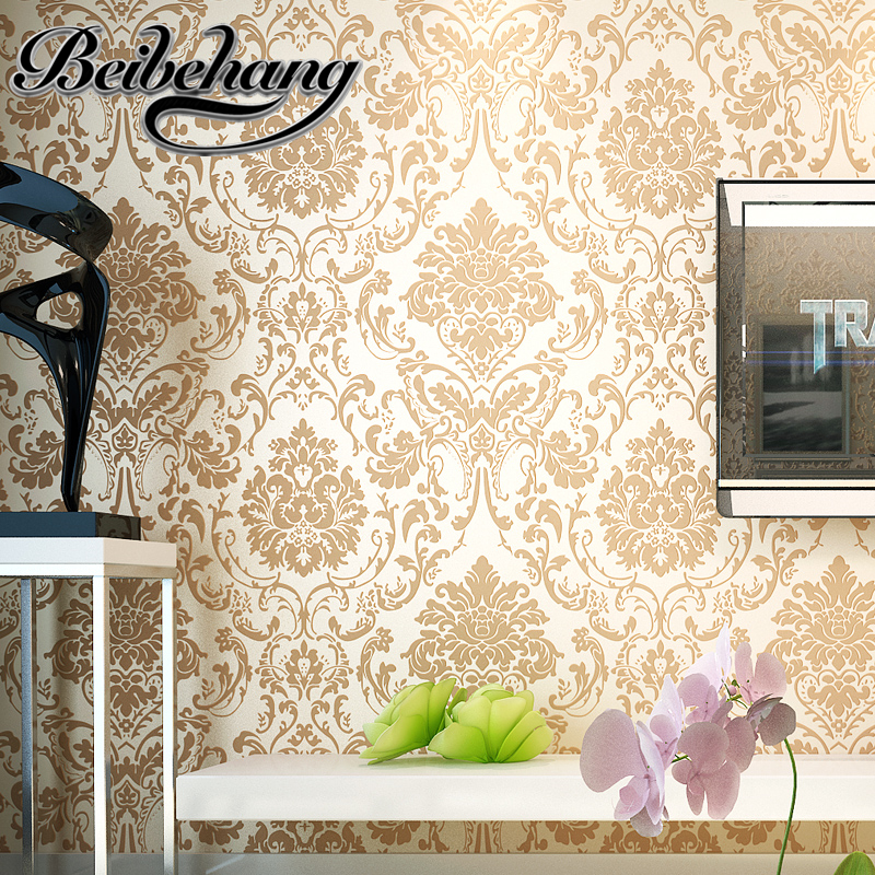 beibehang The new non-woven wallpaper Decoration stereoscopic wallpaper bedroom living room background wallpaper papel de parede