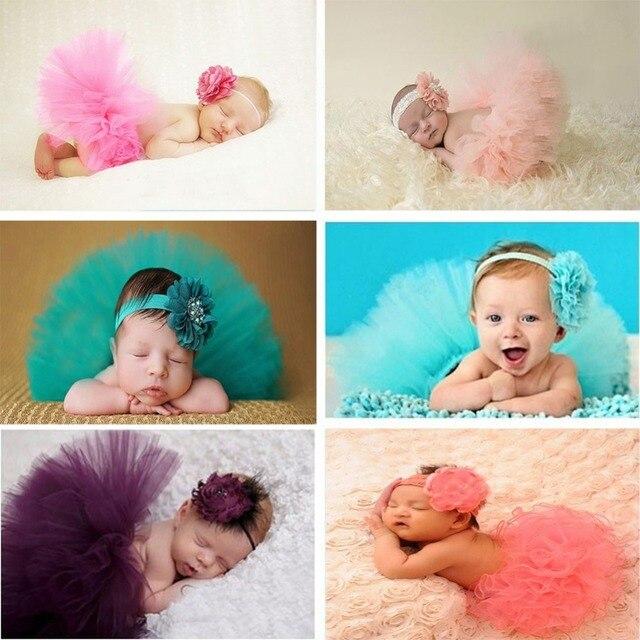 Сладкий Новорожденного fotografia детские девушки 0-3 месяцев зеленый юбки фотосессии и головные уборы аксессуары для Новорожденных реквизит ребенка фотографии