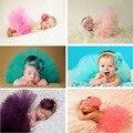 Doce Newborn fotografia bebê meninas 0-3 meses saia tutu verde e sessão de fotos acessórios adereços Recém-nascidos do bebê headwear fotos