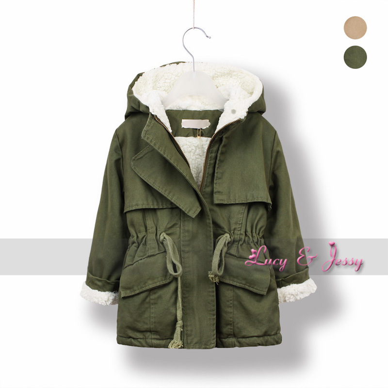 Autumn Winter Hooded Coat For Baby Girls Coats Parka -3415