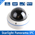 "1/2. 8 ""2MP 1080 P Câmera IP POE Dome 0.0001Lux Starlight IMX291 Low Lux Day/Night Câmera de Imagem a Cores, Fisheye 5MP 1.7 MM Lens P2P"