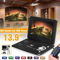13.9 Inch Home Car TV Portatil DVD Player MP3 CD Digital Multimedia USB SD Support FM TV Game Card Read Gamepad 16:9 LCD Screen