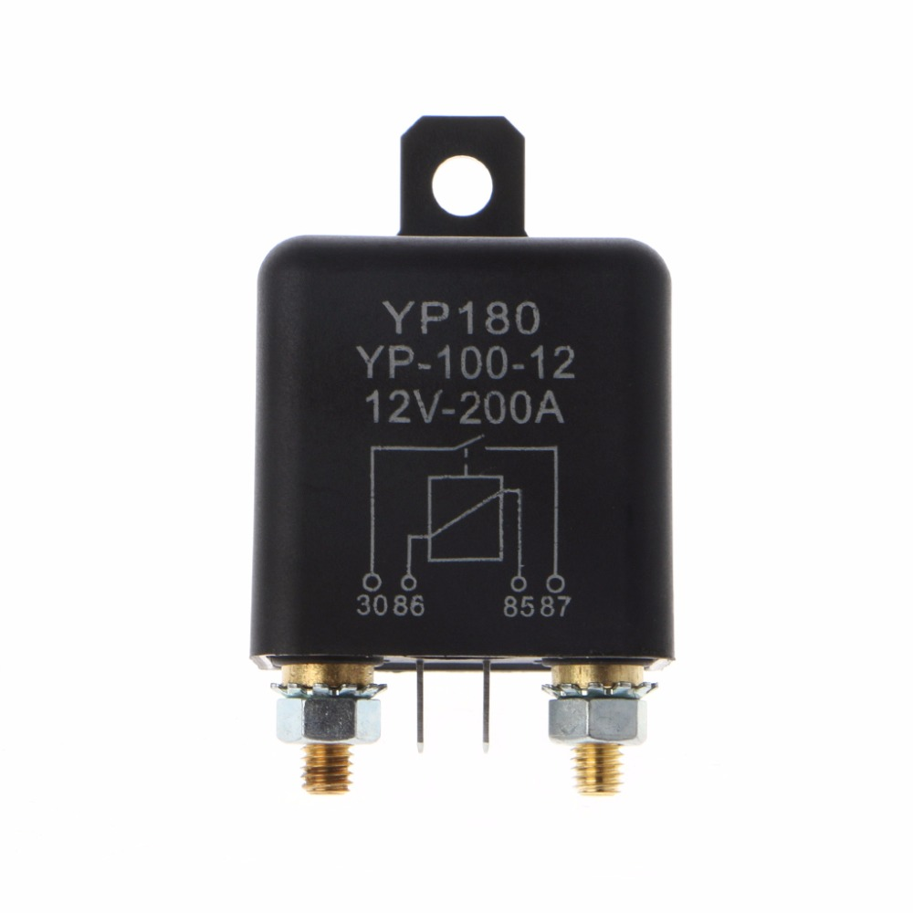 12V DC 200A High Power Car Relay Truck Motor Continuous Type Automotive Switch 200a car truck motor automotive high current relay 12v continuous type automotive car relay euipment