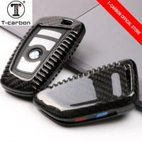 100% Carbon Fiber Car Key Case For BMW 1 2 3 4 5 6 7 Series X1 X3 X4 X5 X6 F30 F34 F10 F07 F20 G30 F15 F16 Car Key Cover